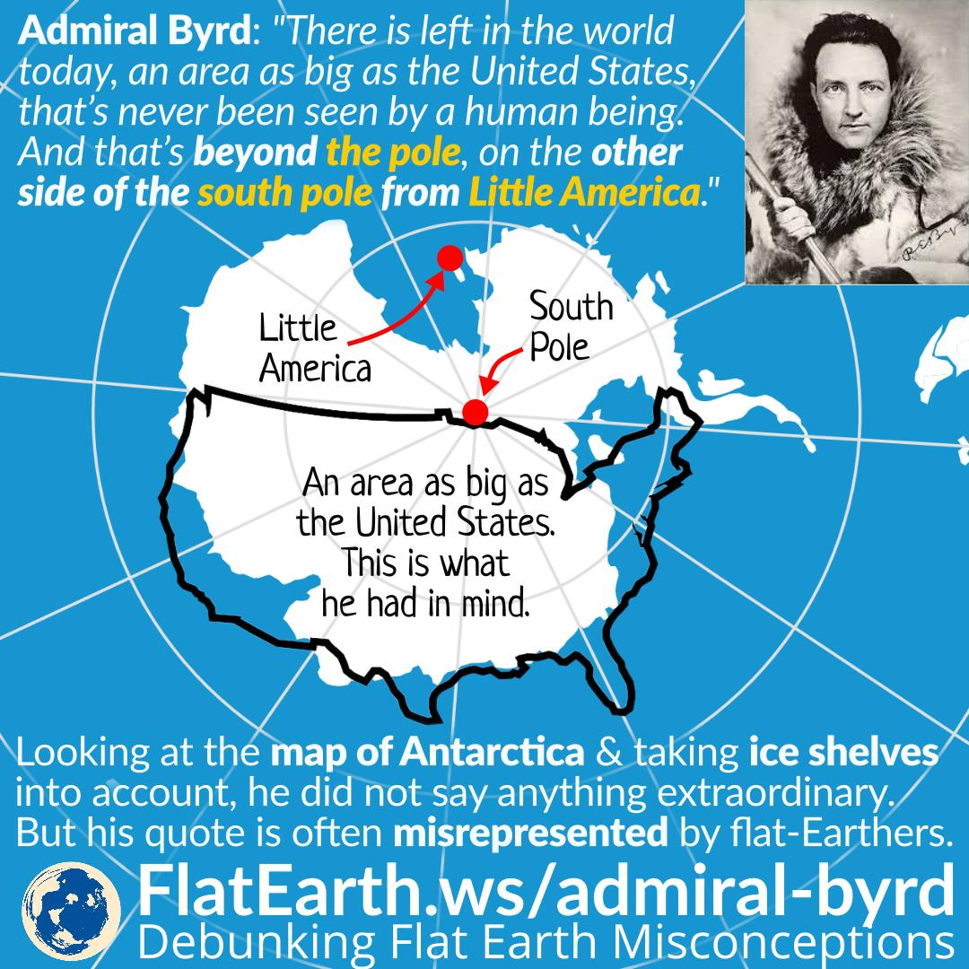Flat Earth Map Antarctica.Admiral Byrd An Area As Big As The United States On The Other Side