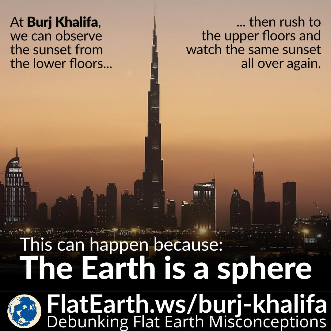 Sunset at Burj Khalifa – FlatEarth ws