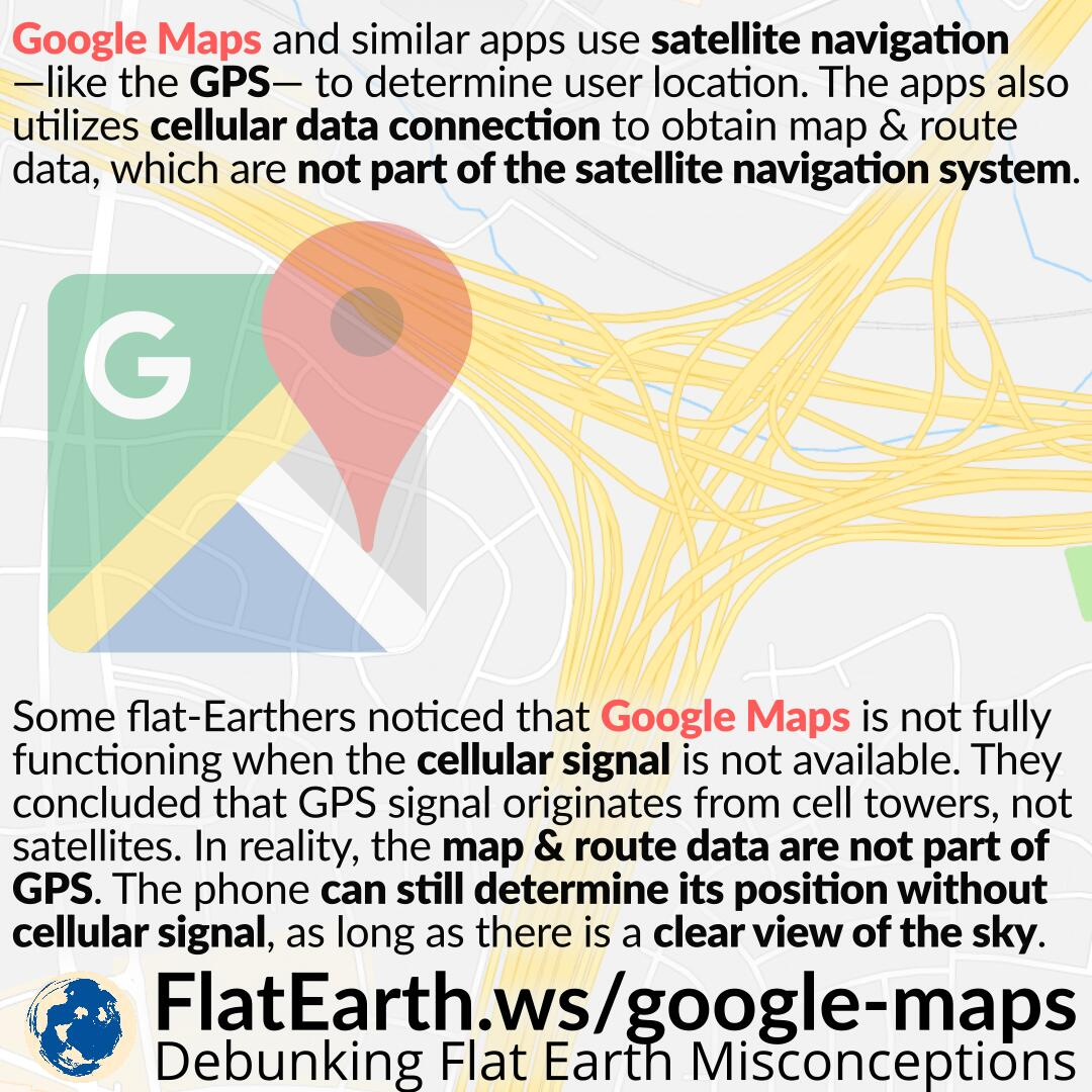 Google Maps, GPS and Cellular Signal Reception – FlatEarth.ws on google calendar, google world app, weather app, google docs app, google texting app, google earth, craigslist app, google circles app, google map from to, google app icon, google mapquest, google map turkey, evernote app, google navigation app, google map art, gasbuddy app, traductor google app, google books app, google search app,