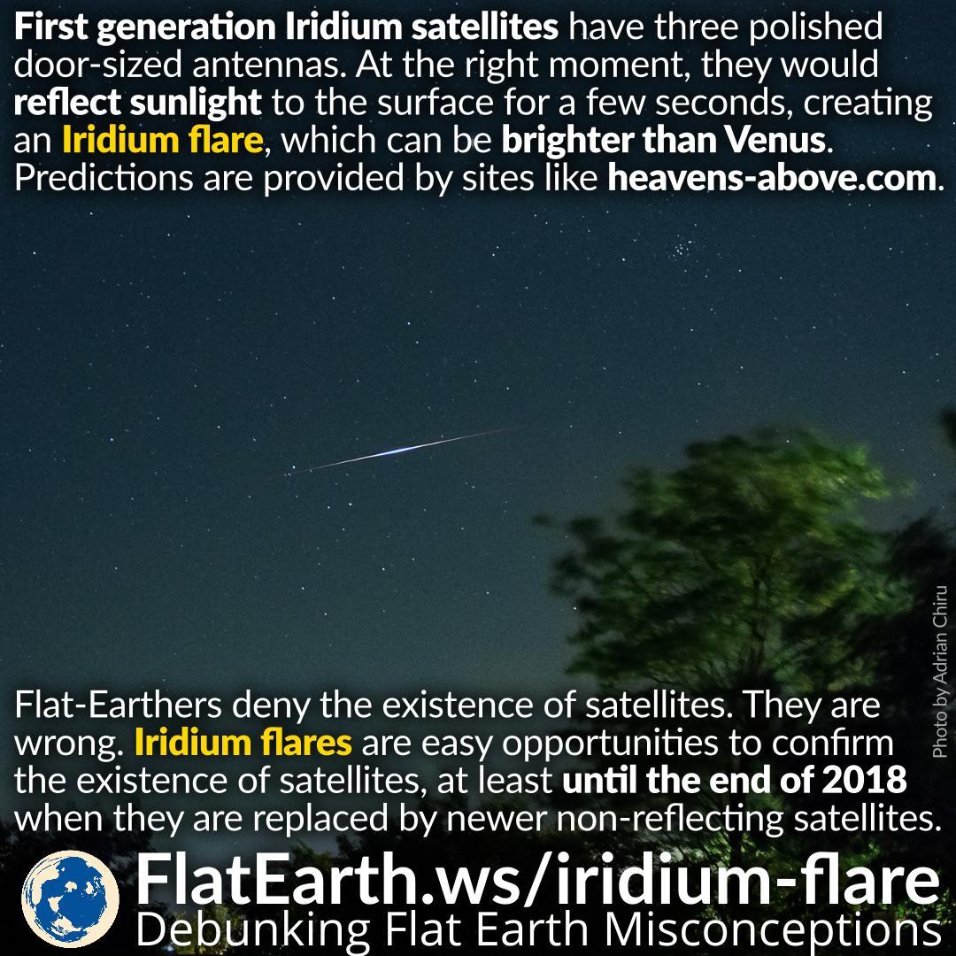 Iridium Flare – FlatEarth.ws